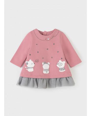 MAYORAL - Sukienka ECOFRIENDS dla noworodka dziewczynki