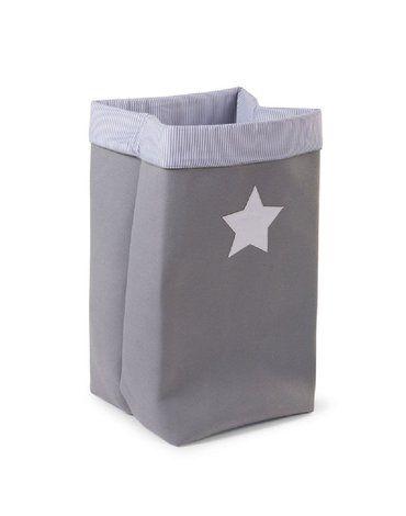 CHILDHOME - Pudełko płócienne 32 x 32 x 60 cm Grey Stripes