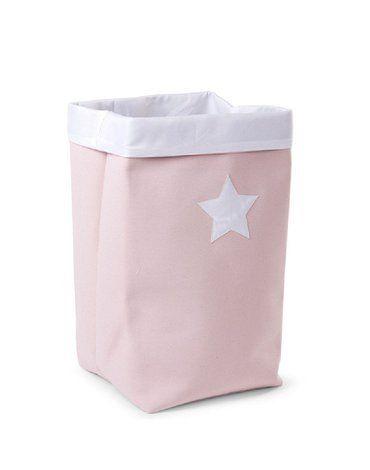 CHILDHOME - Pudełko płócienne 32 x 32 x 60 cm Soft Pink