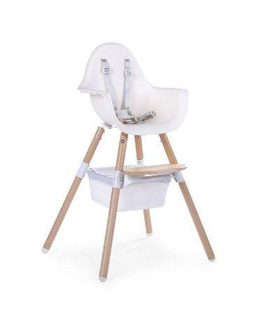 CHILDHOME - Koszyk do krzesełka Evolu 2 White