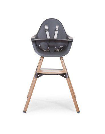 CHILDHOME - Krzesełko do karmienia Evolu 2 Natural/Anthracite