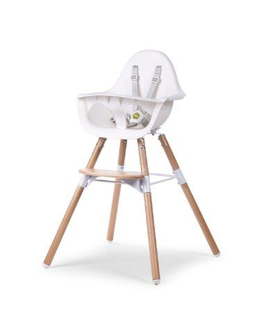 CHILDHOME - Krzesełko do karmienia Evolu 2 Natural/White
