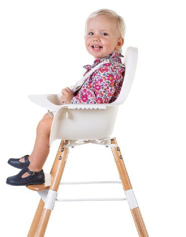 Krzesełko do karmienia Evolu 2 Natural/White CHILDHOME