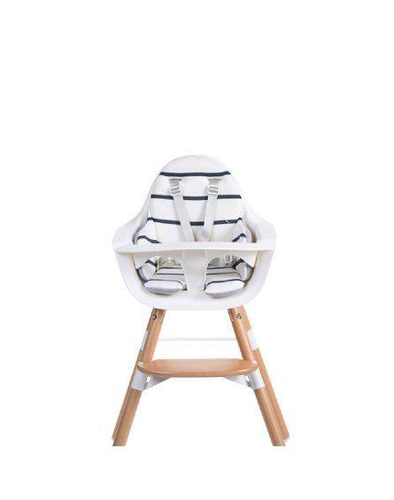 CHILDHOME - Dwustronny ochraniacz do krzesełka Evolu 2 Jersey Grey/Marin