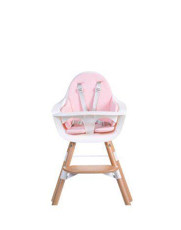 CHILDHOME - Ochraniacz Frotte do krzesełka Evolu 2 Old Pink