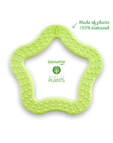 Bioserie TOYS - Bioserie Teether Star Lime gryzak sensoryczny