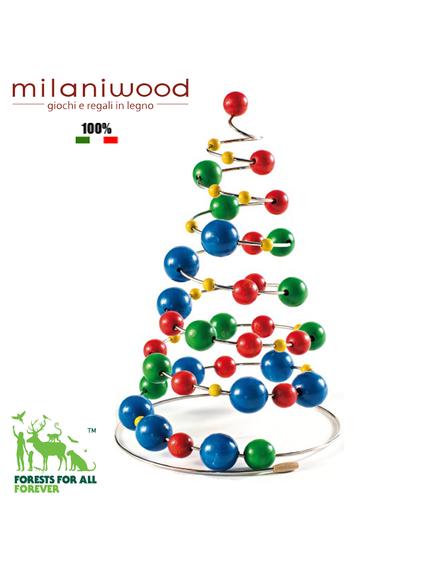 milaniwood multicolour christmas tree