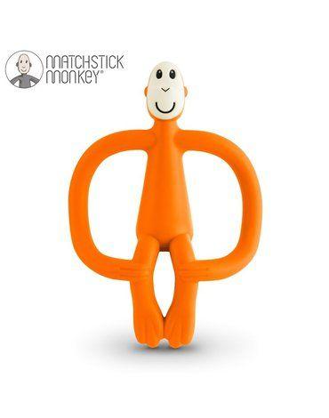 Matchstick Monkey Orange Gryzak Masujący ze Szczoteczką