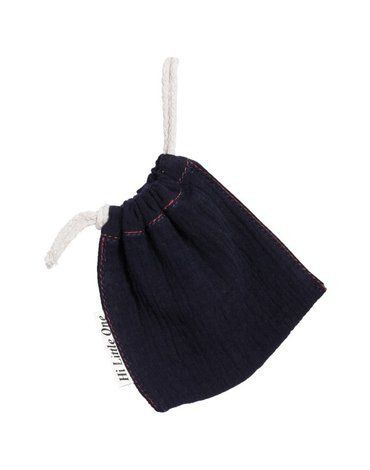 Hi Little One - woreczek na smoczek muslin pacifers bag Black
