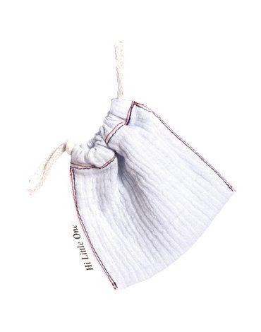 Hi Little One - woreczek na smoczek muslin pacifers bag White