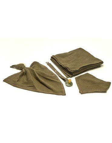 Hi Little One - woreczek na smoczek muslin pacifers bag Green Hunter