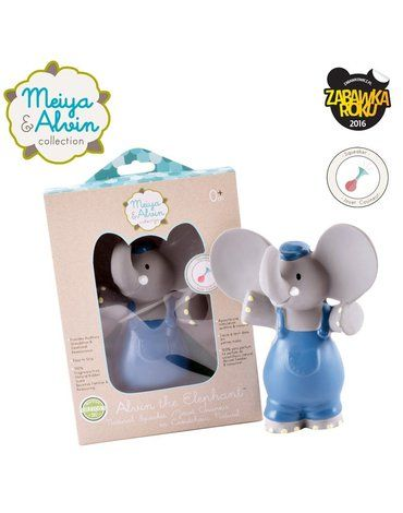 Meiya and Alvin - Meiya & Alvin - Alvin Elephant Organic Rubber Squeaker