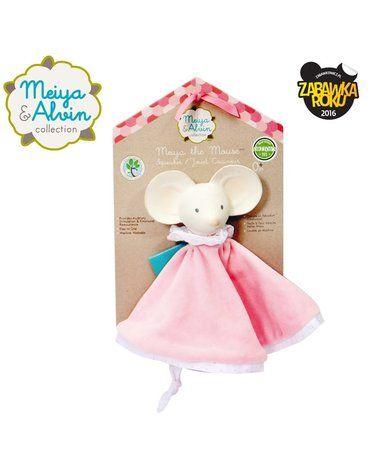 Meiya and Alvin - Meiya & Alvin - Meiya Mouse Snuggly Comforter with Organic Teether Head
