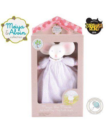 Meiya and Alvin - Meiya & Alvin - Meiya Mouse Doll Rattle with Organic Teether Head