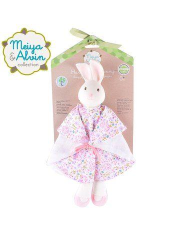 Meiya and Alvin - Meiya & Alvin - Havah Bunny Snuggly Comforter with Organic Teether Head