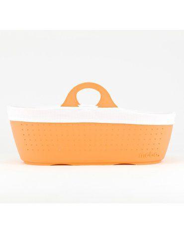 Moba Moses Basket Tangerine Oddychający Kosz Mojżesza do kołyski moba