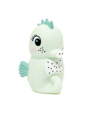 Petit Monkey - Miękka pastelowa lampka nocna LED Konik morski miętowy
