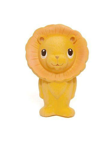 Petit Monkey - Lew Leo  gryzak z grzechotką 100% hevea