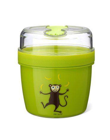 Carl Oscar- N'ice Cup™ L Pojemnik śniadaniowy z wkładem chłodzący Lime - Monkey