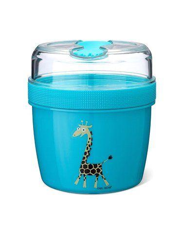 Carl Oscar- N'ice Cup™ L Pojemnik śniadaniowy z wkładem chłodzący  Turquoise - Giraffe