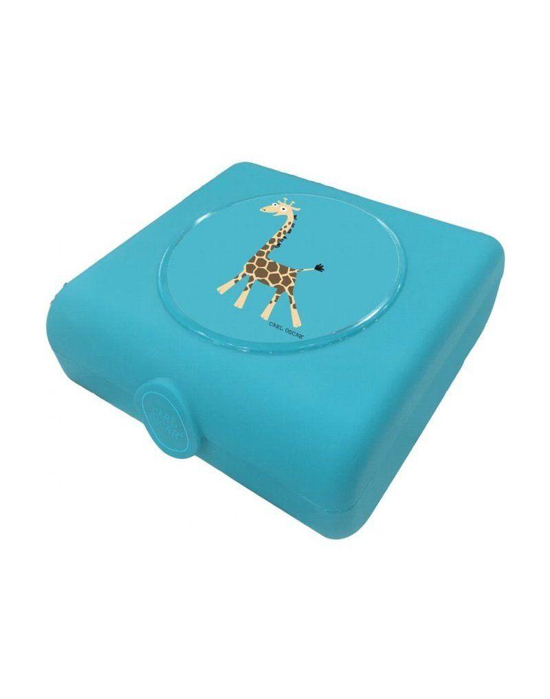 Carl Oscar Kids Sandwich Box Pojemnik na przekąski i kanapki Turquoise - Giraffe CARL OSCAR