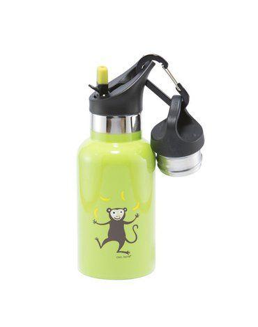 Carl Oscar TEMP Bottle - Butelka termiczna ze słomką ze szlachetnej stali nierdzewnej Lime - Monkey