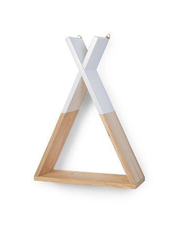 CHILDHOME - Półka drewniana Tipi Natural White