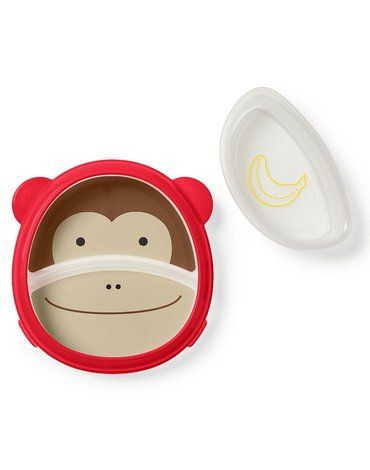 Skip Hop - Miska i talerzyk 2w1 Zoo Małpa