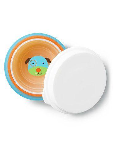 Skip Hop - Zestaw misek z pokrywką 3 szt. Zoo Pies