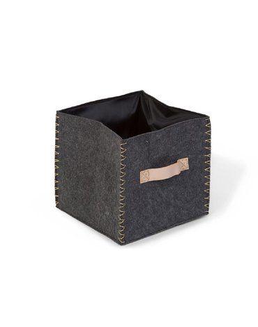 CHILDHOME - Składane pudełko filcowe 40 x 40 x 60 cm Anthracite/Gold