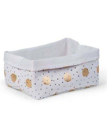 CHILDHOME - Pudełko płócienne 40 x 32 x 20 cm Gold Dots