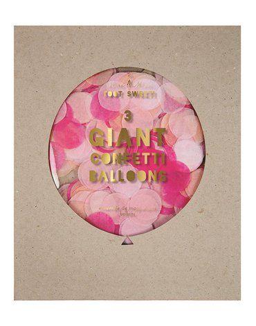 Meri Meri - Balony gigant Konfetti różowe