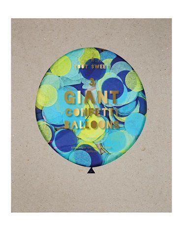 Meri Meri - Balony gigant Konfetti niebieskie