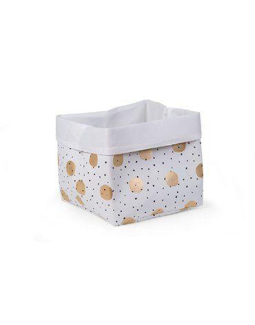 CHILDHOME - Pudełko płócienne 32 x 32 x 29 cm Gold Dots