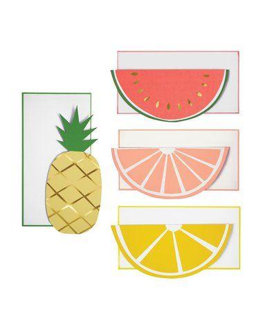Meri Meri - Zestaw kartek ozdobnych Owoce