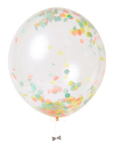 Meri Meri - Zestaw balonów Konfetti neonowe