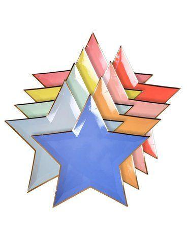 Meri Meri - Talerzyki Gwiazdy kolorowe