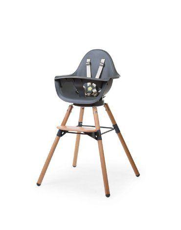CHILDHOME - Krzesełko do karmienia Evolu 2 ONE.80° Natural/Anthracite
