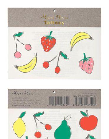 Meri Meri - Tatuaże Owoce