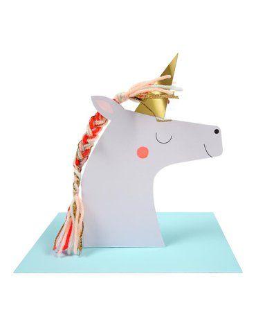 Meri Meri - Kartka okolicznościowa 3D Jednorożec