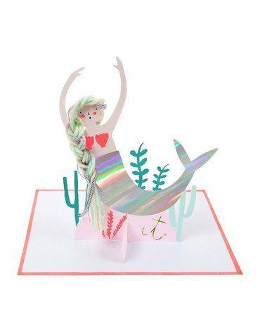 Meri Meri - Kartka okolicznościowa 3D Syrenka