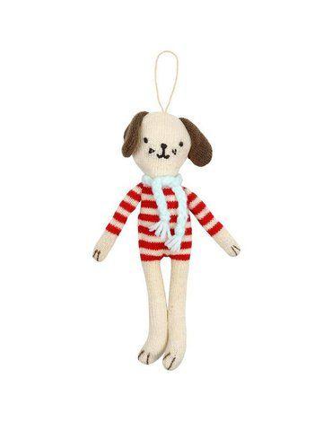 Meri Meri - Zawieszka choinkowa Pies w sweterku
