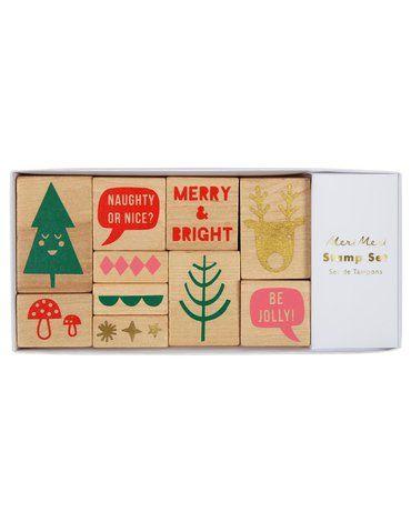 Meri Meri - Stemple drewniane Boże Narodzenie