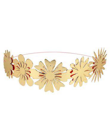 Meri Meri - Korony Kwiaty złote