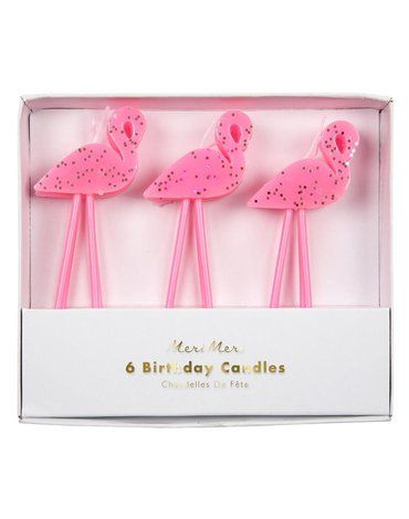 Meri Meri - Zestaw świeczek Flamingi