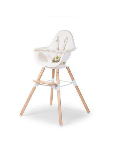 CHILDHOME - Krzesełko do karmienia Evolu 2 ONE.80° Natural/White