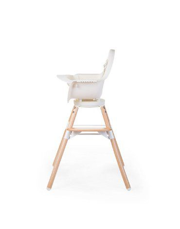 Krzesełko do karmienia Evolu 2 ONE.80° Natural/White CHILDHOME