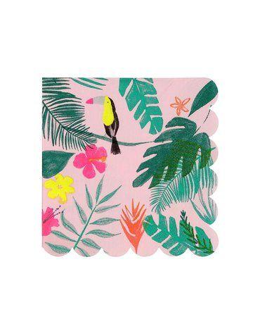 Meri Meri - Małe serwetki Tropiki