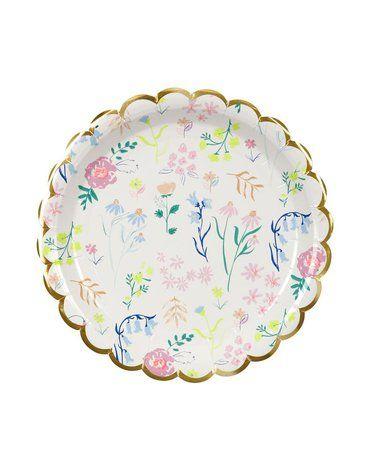 Meri Meri - Małe talerzyki Kwiaty