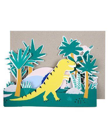 Meri Meri - Mega kartka okolicznościowa 3D Dinozaur